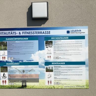 Vitalitäts- und Fitnessterasse Reha Baumgarten Wien